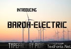 Baroh Electric Font
