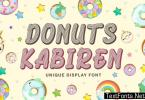Donuts Kabiren - Playful Display Font