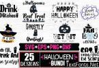Halloween Quotes & Vintage Design Bundle