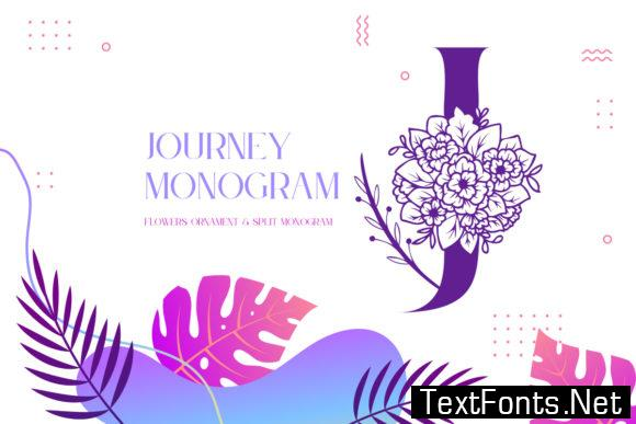 Journey Monogram Font