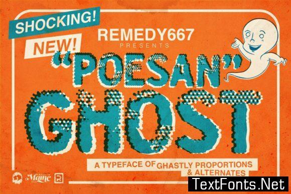 Poesan Ghost Font