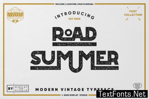 Road Summer Font