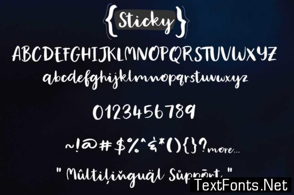 Sticky Font