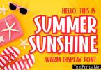 Summer Sunshine Font