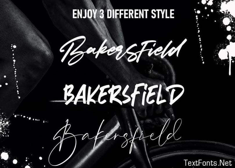 Bakersfield   3 Font Combination