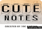 Cute Notes Font