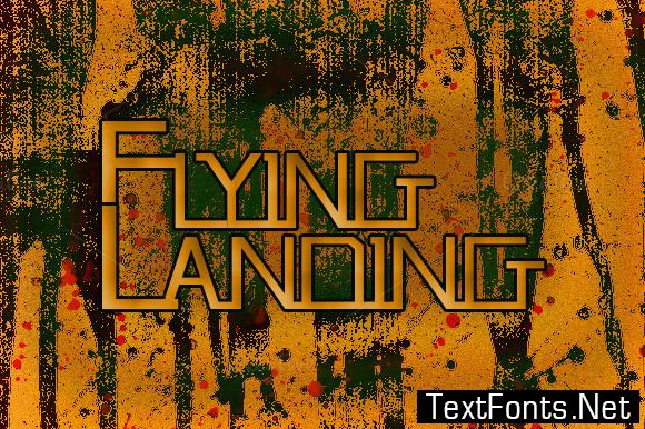 Flying Landing Font