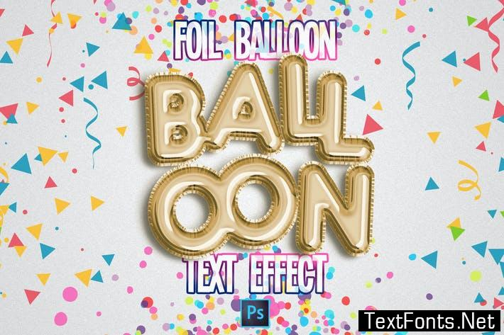 Foil Balloon Text Effect for Photoshop 6FJ78P