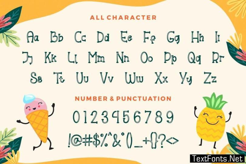 Helloo Kidos - Playful Display Font