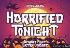 Horrified Tonight - Halloween Font