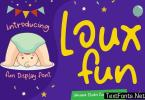 Loux Fun - Creative Fun Children Display Font