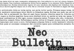 Neo Bulletin Family Font