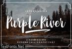 Purple River Font