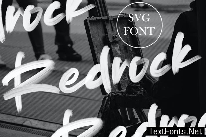 Redrock | SVG Brush Font