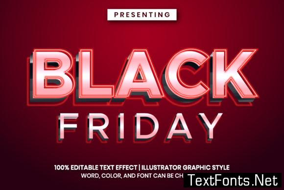 Text Effect for Black Friday Event