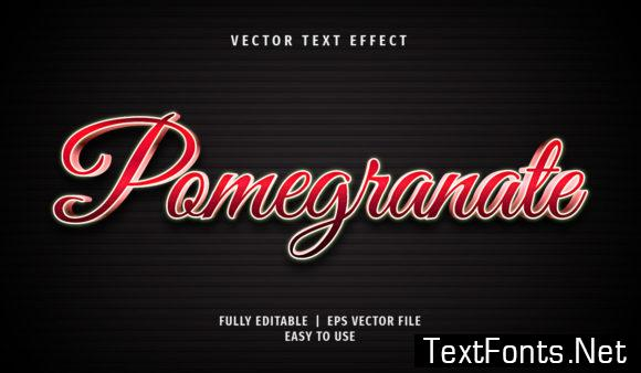 Text Effect - Pomegranate Text Style