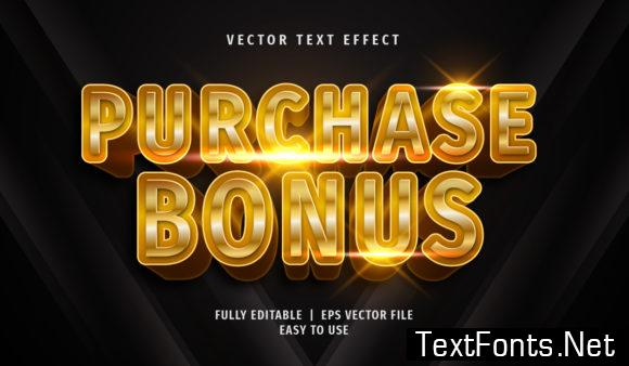 Text Effect - Purchase Bonus Text Style
