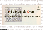 1483 Rotunda Lyon Font