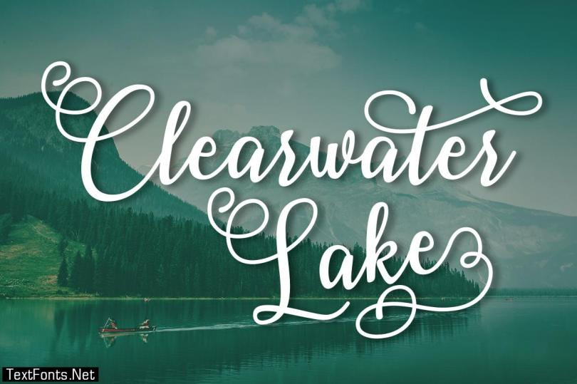 Clearwater Lake Font