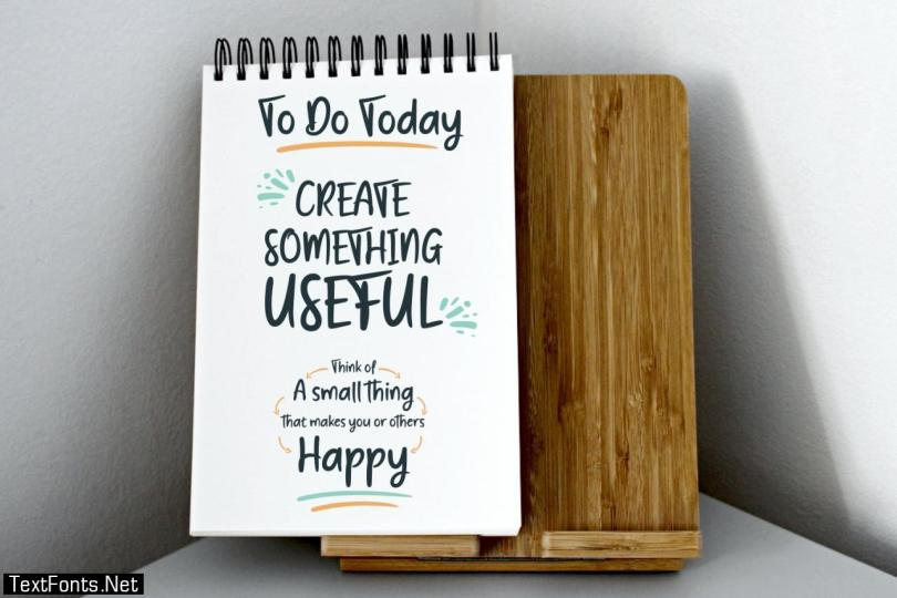 Create Something Today Font