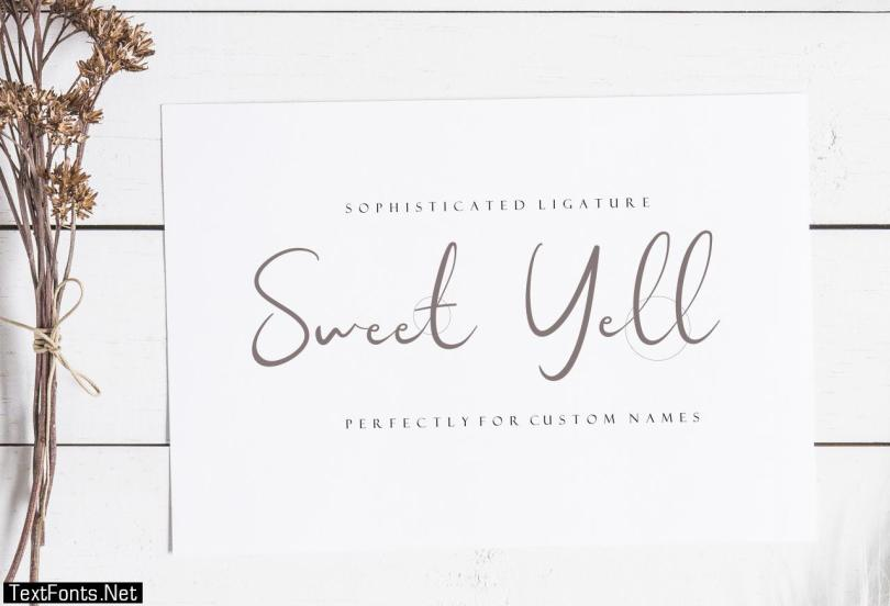 Sweet Yell Font