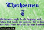 Therhoernen Font