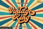 Vintage King - Bold Retro Font