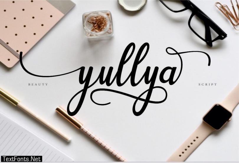 Yullya Script Font