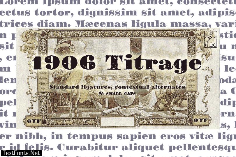 1906 Titrage Font