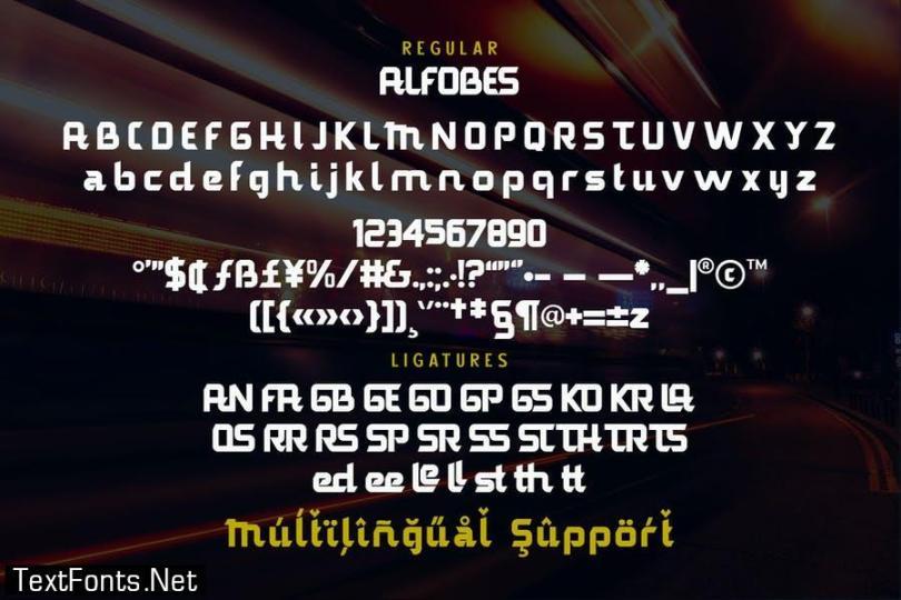 Alfobes Typeface Font