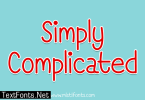 Simply Complicated Font