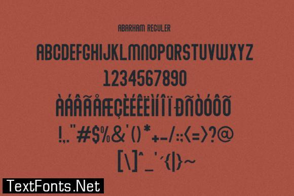 Abraham Family Font