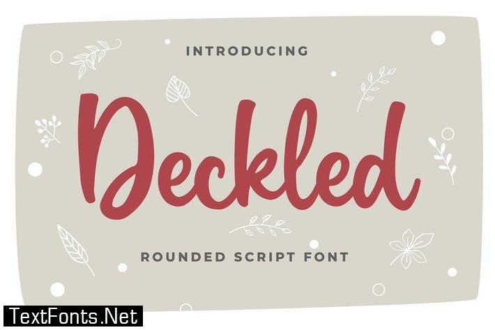 Deckled Rounded Script Font