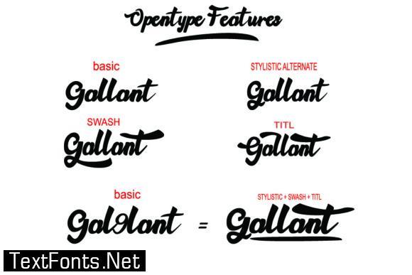 Gallant Font