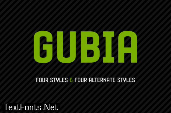 Gubia Family Font