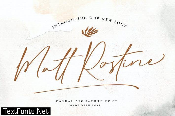 Matt Rostine | Signature Font