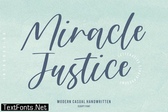 Miracle Justice Script Font YH