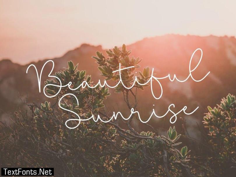 Miracle Sunrise Script Font YH