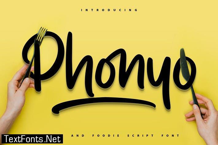 Phonyo   Foodie Script Font