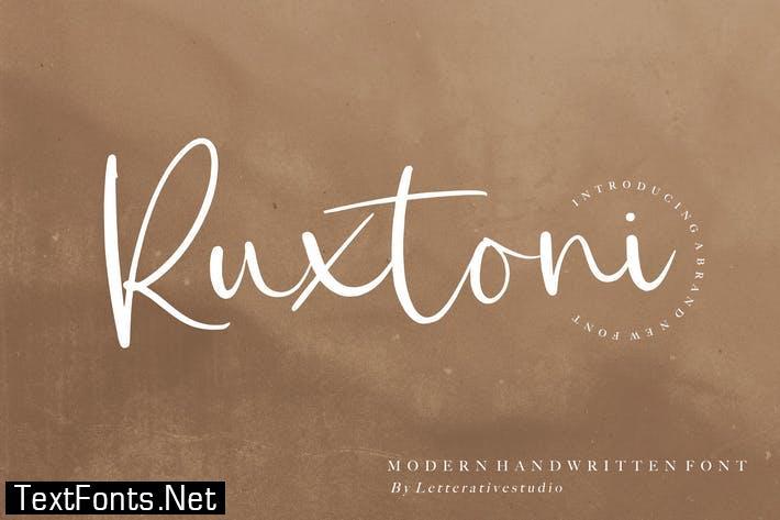 Ruxtoni Script Font YH