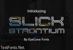 Slick Strontium Font