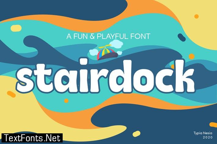 Stairdock - Fun Cute Snack Font