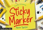 Sticky Marker Typeface