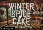 Winter Spice Cake Font