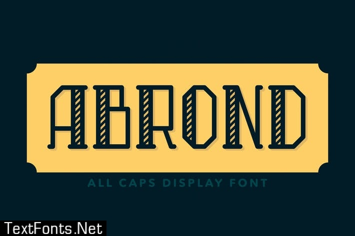 Abrond Typeface Font