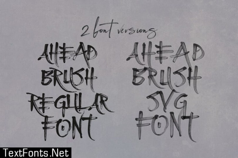 Ahead Brush SVG Font
