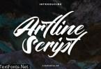 Artline Fancy Script Fonts