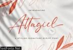 Attagiel - Handwritten Font