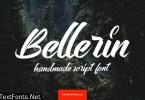 Bellerin Handmade Script Font