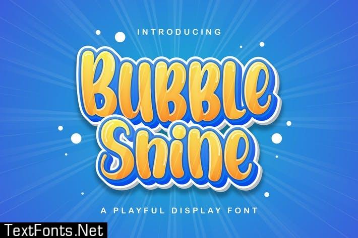 Bubble Shine - Playful Display Font